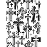 Embossing Folder 4.25X5.75 Crosses