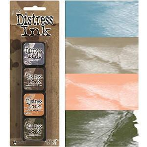 Tim Holtz/Ranger - Distress Mini Ink Pads 4 Pack - Kit 9