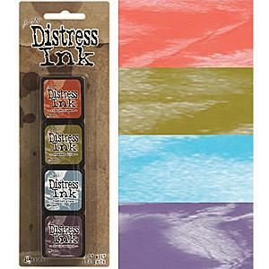 Tim Holtz/Ranger - Distress Mini Ink Pads 4 Pack - Kit 8