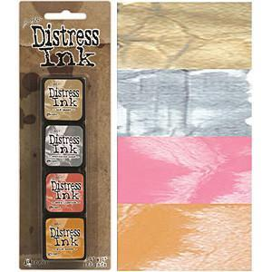 Tim Holtz/Ranger - Distress Mini Ink Pads 4 Pack - Kit 7