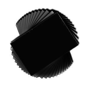 Poppy Crafts - A4 Premium Cardstock - Black - 240Gsm 50 Sheets Per Pack