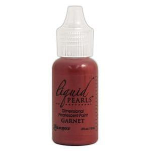 Liquid Pearls Paint .5Oz Bottle Garnet