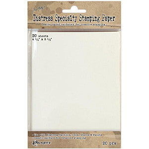Distress Specialty Stamping Paper 4.25X5.5 20 Sheets