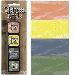 Tim Holtz/Ranger - Distress Mini Ink Pads 4 Pack - Kit 10