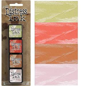 Tim Holtz/Ranger - Distress Mini Ink Pads 4 Pack - Kit 11