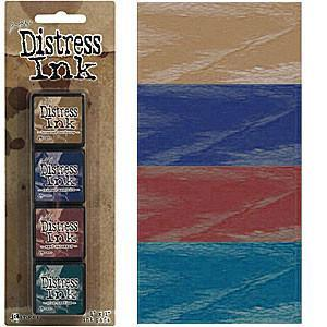 Tim Holtz/Ranger - Distress Mini Ink Pads 4 Pack - Kit 12