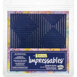 Gel Press Impressables 12 inch X12 inch Embossed Gel Plate Sq In Sq
