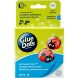 Glue Dots Clear Dot Roll Permanent .5 200/Pkg