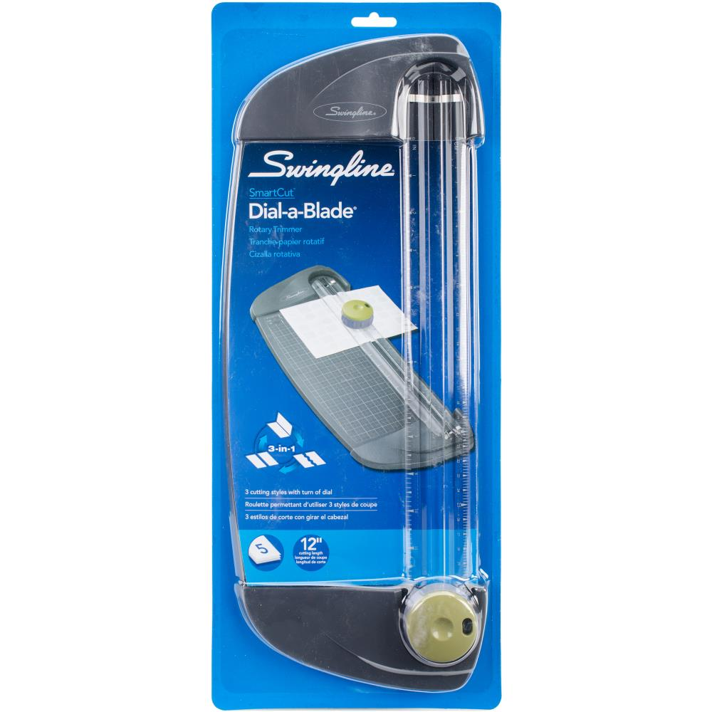 Swingline SmartCut Dial-A-Blade Trimmer 3-In-1 Blade, 12 Cut Length