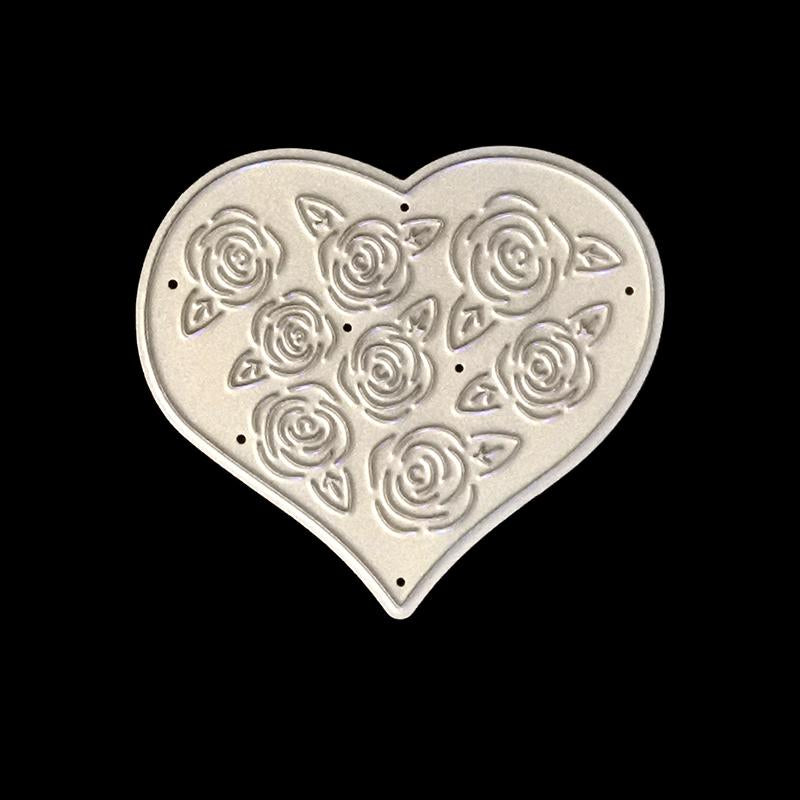 Poppy Crafts Dies - Heart Shape with Roses Die Design