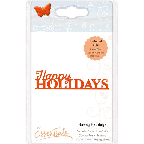 Tonic Studios Essentials Christmas Sentiments Die Happy Holidays