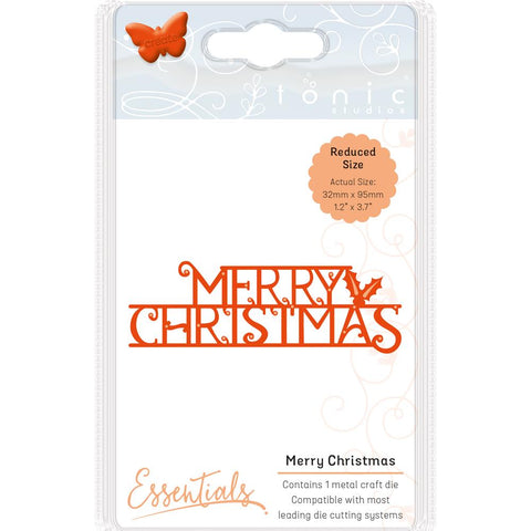Tonic Studios Essentials Christmas Sentiments Die Merry Christmas