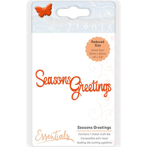 Tonic Studios Essentials Christmas Sentiments Die Seasons Greetings