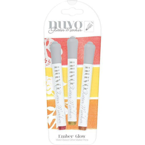Nuvo Glitter Markers - Ember Glow (3 Pk)