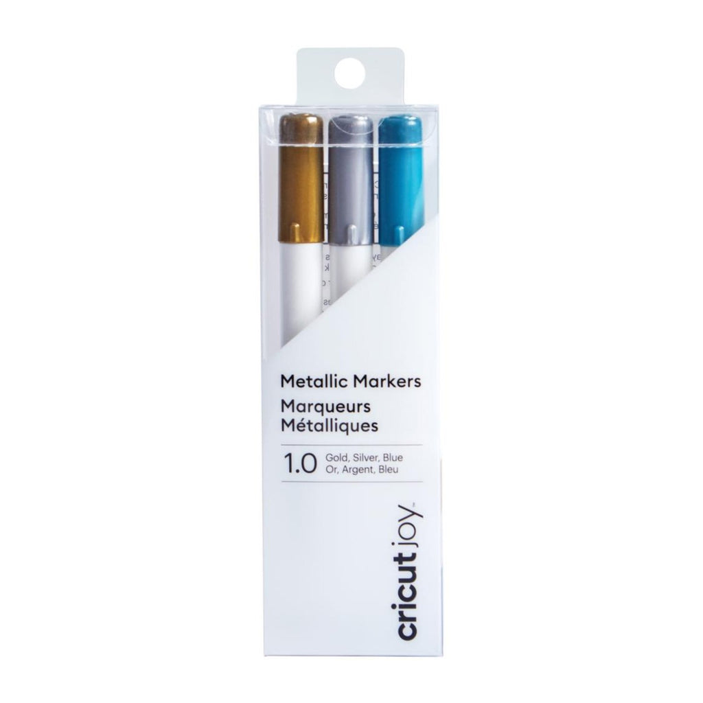Cricut Joy Metallic Markers, 1.0 mm 3/pkg - Gold, Silver, Blue