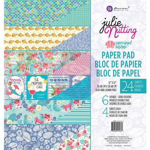 Prima Marketing Double-Sided Paper Pad 6X6 30/Pkg Mermaid Kisses, 6 Designs/5 Each