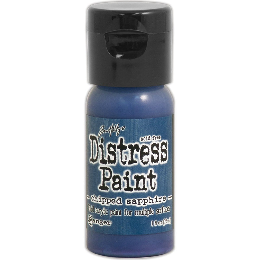 Tim Holtz Distress Paint Flip Top 1oz - Chipped Sapphire