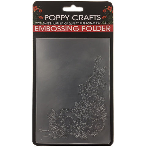 Poppy Crafts Embossing Folder - Floral flourish design