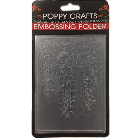 Poppy Crafts Embossing Folder - Hanging leaf design