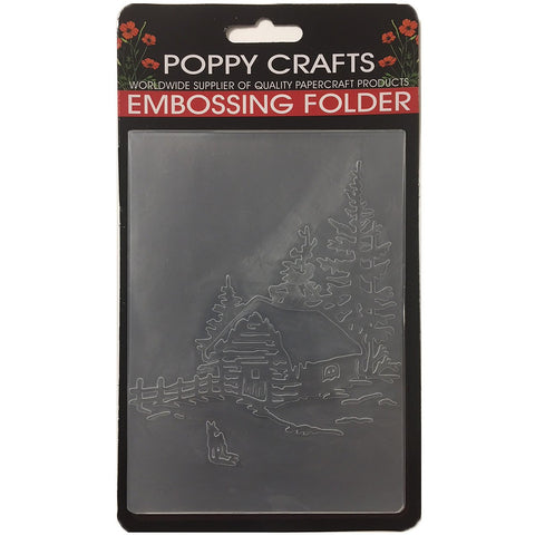 Poppy Crafts Embossing Folder - Country cottage design