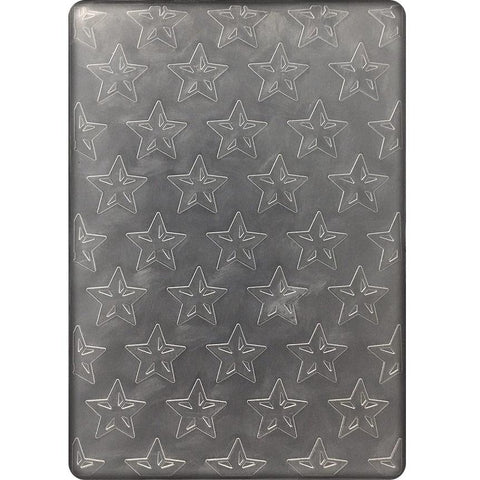 Poppy Crafts Embossing Folder - All the stars design