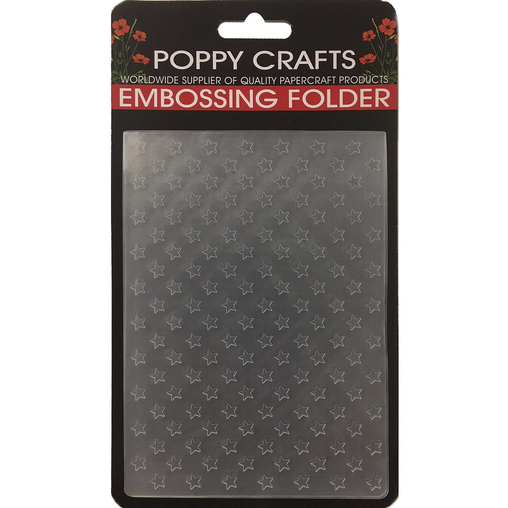 Poppy Crafts Embossing Folder - Small stars design