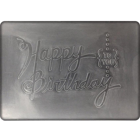 Poppy Crafts Embossing Folder - Happy Birthday to You design