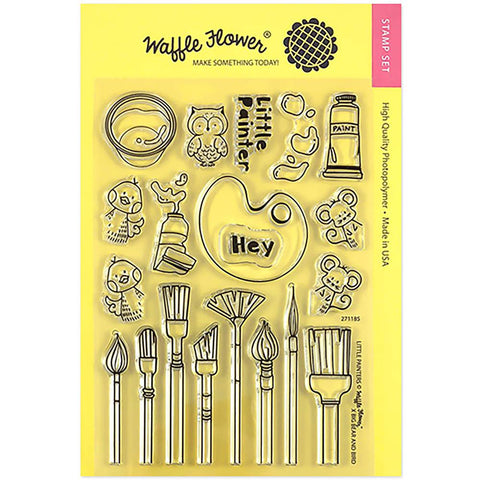 Waffle Flower Crafts Clear Stamp 5X7 Little Painters
