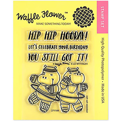 Waffle Flower Crafts Clear Stamps 3X4 Hip Hip Hooray