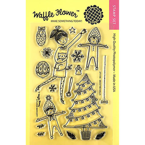 Waffle Flower Crafts Clear Stamps 4X6 Deck The Halls