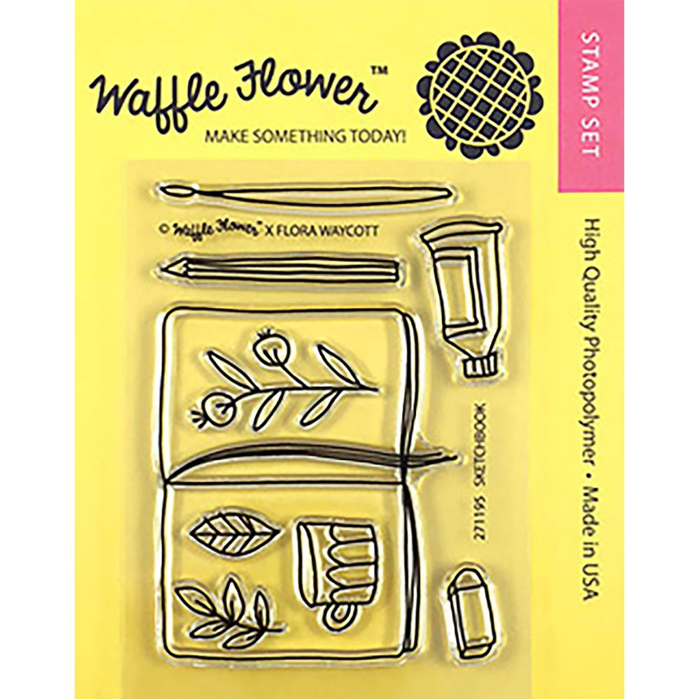 Waffle Flower Crafts Clear Stamps 3X4 Sketch Book