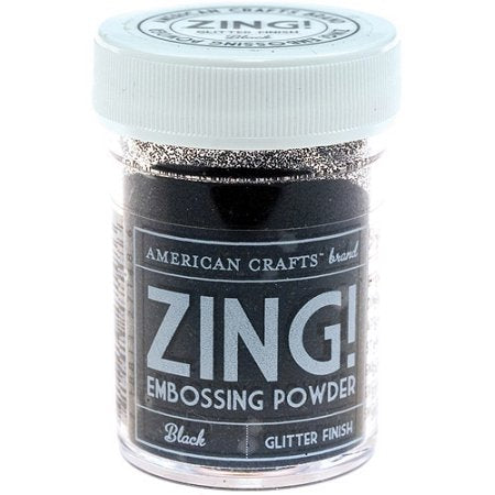 American Crafts - Zing! Glitter Embossing Powder 1oz Black