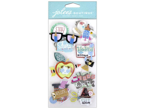 Jolee's Boutique Dimensional Stickers School Words