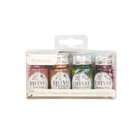 Nuvo - Rustic Rose Collection - Pure Sheen - Rustic Rose - 4 Pack