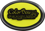 ColorBox Black Light Neon Oval Ink Pad Sunny