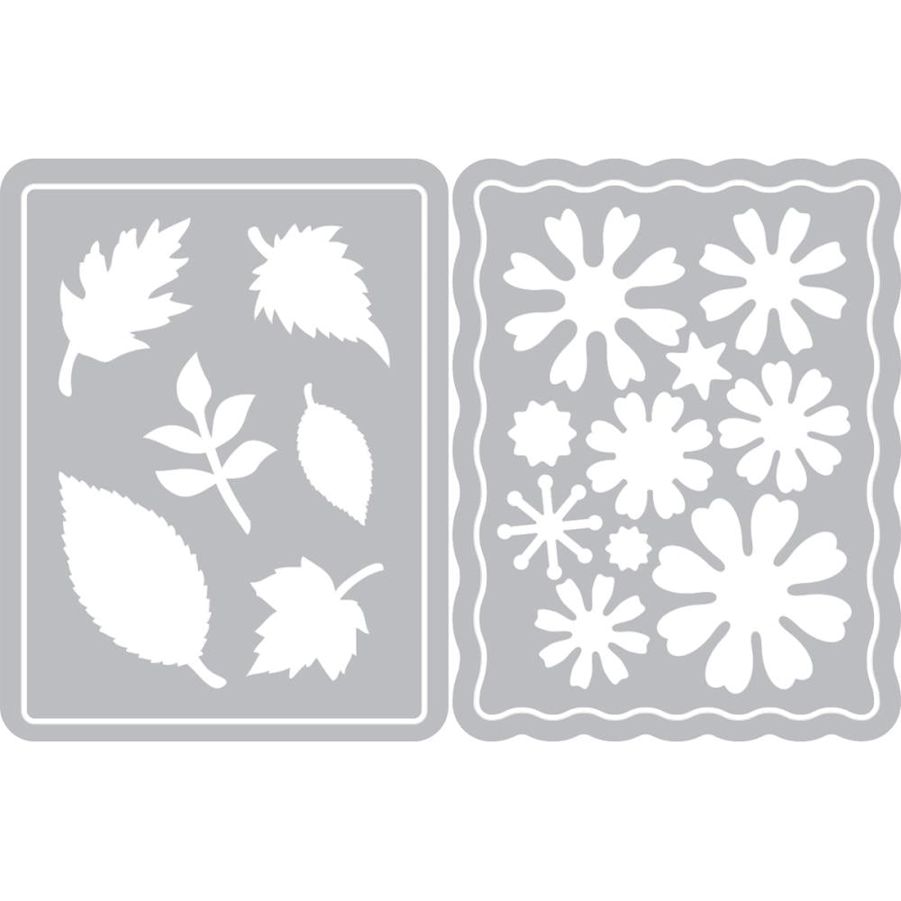 Sizzix Thinlits Dies By Eileen Hull Flowers & Leaves Journaling Cards