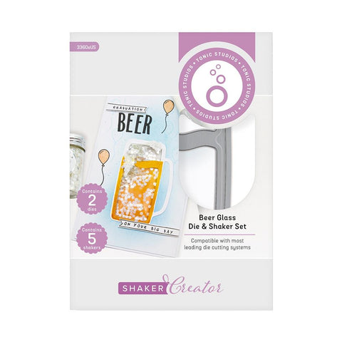 Tonic Studios - Cheers! Die & Shaker Set - Beer Glass - Shaker Creator
