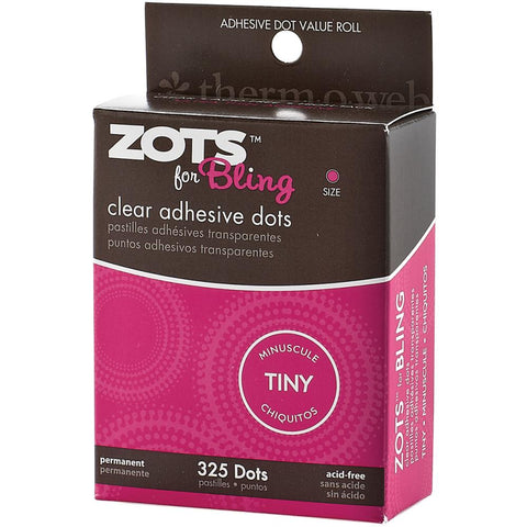 Thermoweb Zots Clear Adhesive Dots Bling Tiny 1/8 325/Pkg