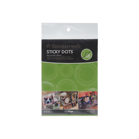 Thermoweb Sticky Dot Die-Cut Adhesive Sheets 4.25X5.5 12/Pkg
