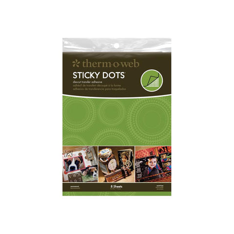 Thermoweb Sticky Dot Die-Cut Adhesive Sheets 8.5X11 8/Pkg
