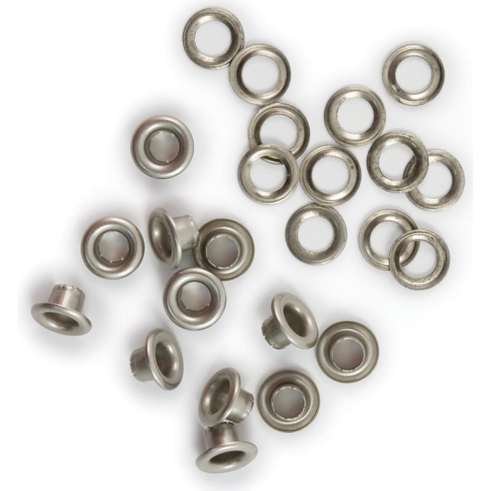 We R Memory Keepers - Eyelets & Washers Standard Nickel 60 pack