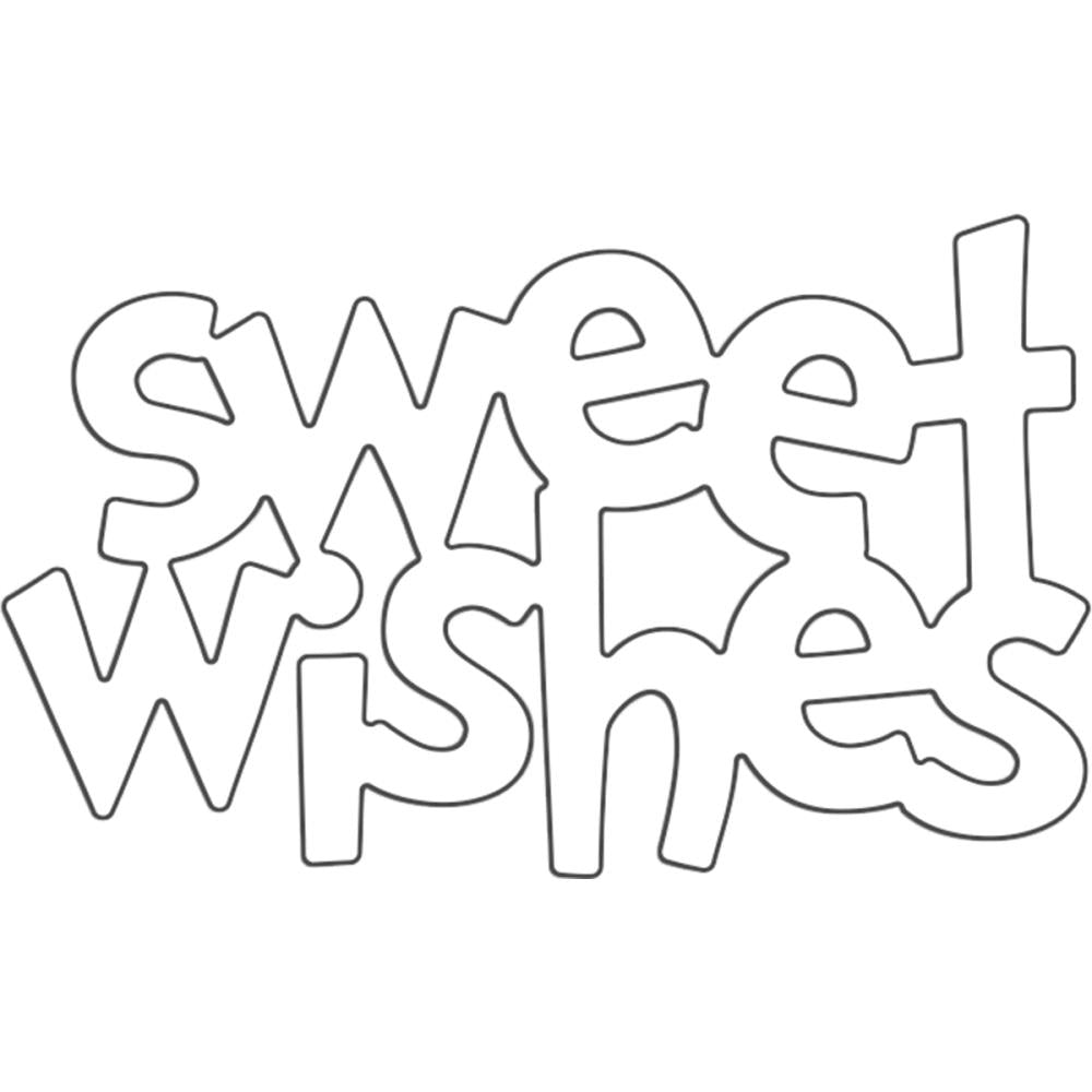Penny Black Creative Dies Sweet Wishing 2.25 inch X1.38 inch