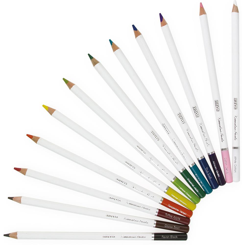 Nuvo Watercolor Pencils 12 pack  Brilliantly Vibrant