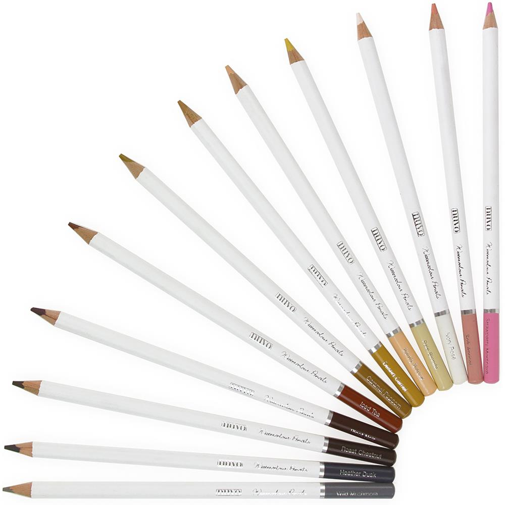 Nuvo Watercolor Pencils 12 pack  Hair & Skin Tones