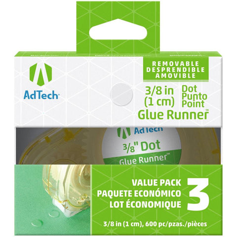 Ad-Tech Removeable Glue Dots 3/Pkg Clear .375