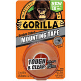 Gorilla Double-Sided Mounting Tape 1X60 Clear