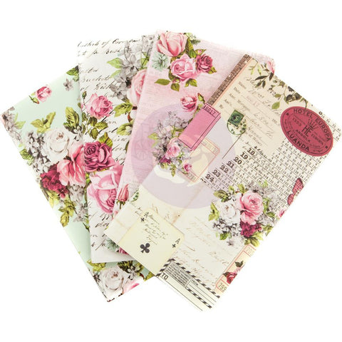 Prima Travelers Journal Personal Refill Notebook 4 pack Misty Rose