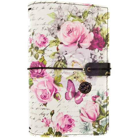Prima Travelers Journal Personal Size 5 inch X7.5 inch Misty Rose