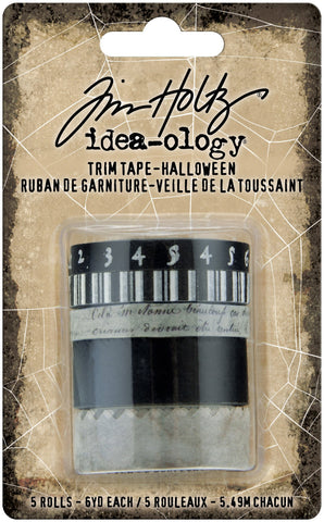 Tim Holtz Idea-Ology Trim Tape 6/Pkg - Halloween