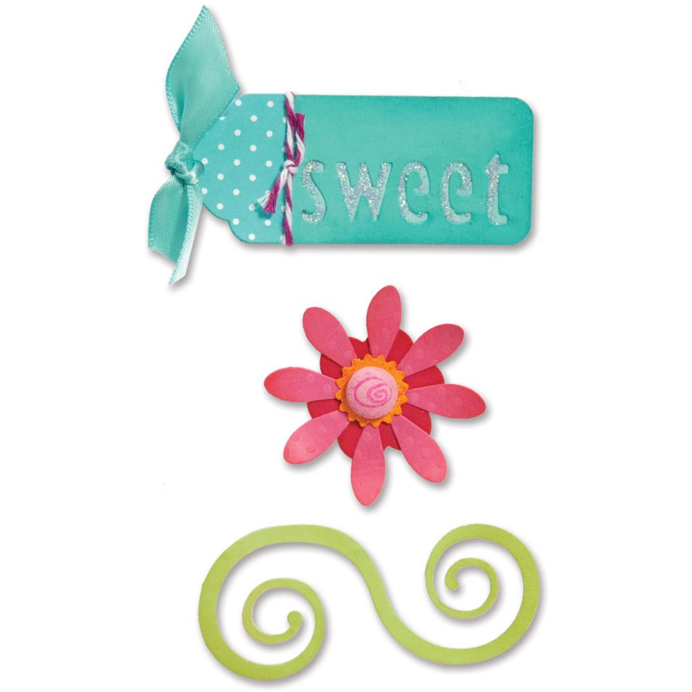 Sizzix Sizzlits Die Set 3 pack 3.75 inch X2.5 inch Sweet Things